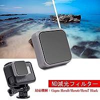 LENSKINS MRC ND8 For Gopro Hero5/Hero6/Hero7 Black ND減光フィルター ゴープロ用 レンズフィルター 高透過率 光量調整 超軽 薄型 レンズ保護 ND8