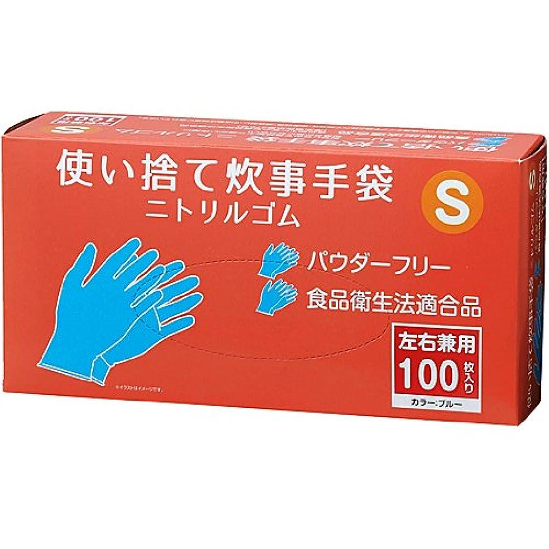 接続詞工場人柄コーナンオリジナル 使い捨て炊事手袋 ニトリルゴム 100枚入り S KFY05-1142