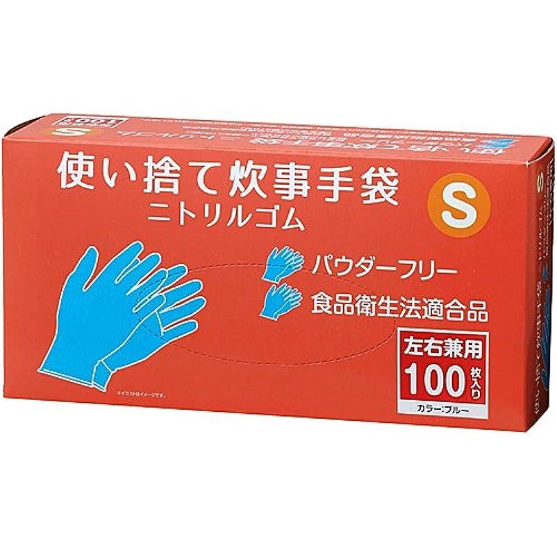 旋律的曲げるセッティングコーナンオリジナル 使い捨て炊事手袋 ニトリルゴム 100枚入り S KFY05-1142
