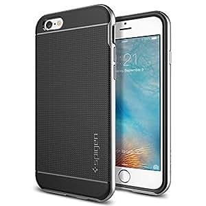 【Spigen】 iPhone6s ケース / iPhone6 ケース, ネオ・ハイブリッド [ 米軍MIL規格取得 二重構造 スリム フィット ] アイフォン6s / 6 用 カバー (サテン・シルバー SGP11620)