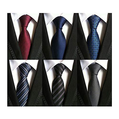 LOLONG 8セットから選べるネクタイ 6本セット ビジネス用 (Style-6)