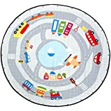 """Baoblaze 150cm / 60"""" Cute Carton Play Mat, Kids Baby Toddler Crawling Blanket, Home Floor Rug, Outdoor Picnic Mat - Foldable Soft Machine Wahsable - Cars in City, 150cm or 60inch"""