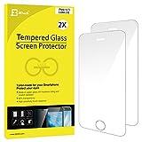 iPhone SE フィルム, JEDirect 2枚入り 高品質 強化ガラス 硬度9H Apple iPhone 5 / 5s / SE液晶保護 フィルム - 0317