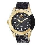 アディダス 腕時計 [アディダス オリジナルス] adidas originals メンズ ゴールドケース ブラック スネーク 蛇柄 レザー 10気圧防水 ADH3052 腕時計 [並行輸入品]