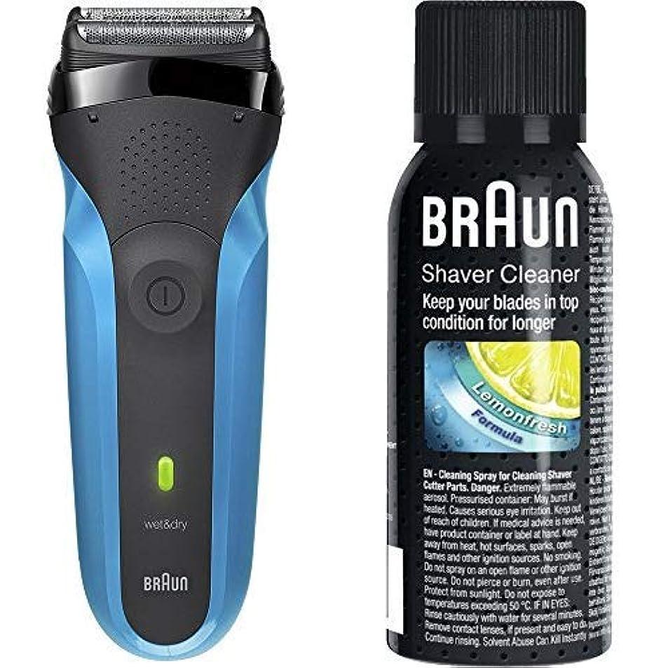 ラッチのぞき穴保証するブラウン メンズ電気シェーバー シリーズ3 310s 3枚刃 水洗い/お風呂剃り可 & シェーバークリーナー SC8000 SC8000