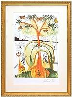 アートショップ フォームス サルバドール・ダリ「不思議の国のアリス/狂ったお茶会」作品証明書・展示用フック・限定500部エディション付複製画リトグラフ
