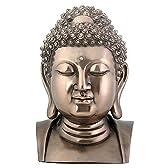 仏陀の頭部 胸像 ブッダ 置物 ブロンズ風 フィギュア