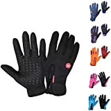 Sanwooden Practical Cycling Gloves Full Finger Touch Screen Anti-Slip Windproof Unisex Winter Warm Cycling Gloves Winter Essential Gloves