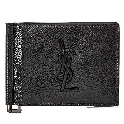 [サンローラン] [SAINT LAURENT] メンズ モノグラム パテント レザー マネークリップ カードケース 財布 BLACK [並行輸入品]
