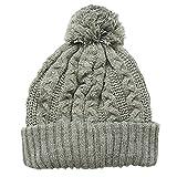 キッズ 子供用 ニット帽 SHISKYケーブル編みニット帽 韓国子供服 2.グレー FREE