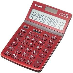 カシオ デザイン電卓 ジャストタイプ 12桁 JF-Z200RD-N レッド