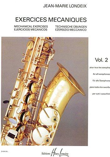 ウィットナー ジャン マリー ロンデックス   メカニズムの練習課題 第二巻  サクソフォン教則本  アンリ ルモアンヌ出版