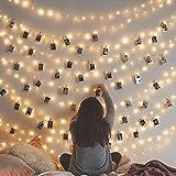 Best 3Mクリスマスデコレーション - sunmid卒業式パーティーギフト装飾3M 20ledウォームホワイト写真クリップLEDライトbatteryhome庭芝フェンスパティオパーティーとホリデーデコレーション Review