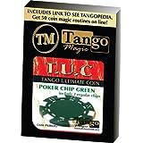 マジックトリック| TUCOポーカーチップグリーンプラス3つの通常チップ(PK002G)by Tango Magic |クローズアップギャンブル