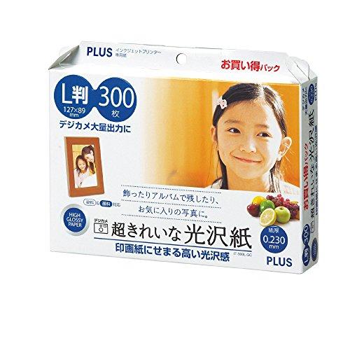 超きれいな光沢紙 L判 IT-300L-GC 46085 1セット 600枚:300枚×2箱 プラス
