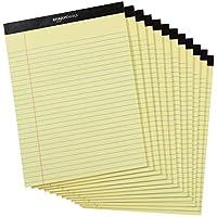 Amazonベーシック メモ帳 ワイド罫リーガルパッド 30×22cm イエロー 50枚×12冊