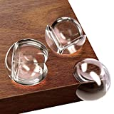 Kids Clear Corner Guards -20 Pack + Free Gift- Child Safety Sharp Corner Protector - Table Corner Protectors for Baby Proofing - Baby Safety Adhesive Edge Bumpers - Glass Furniture Child Proof Guards