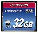 Transcend 400倍速CFカード 32GB 永久保証 TS32GCF400