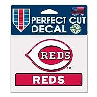 MLB シンシナティ・レッズ WCR17846014 パーフェクトカットカラーステッカー 4.5インチ x 5.75インチ