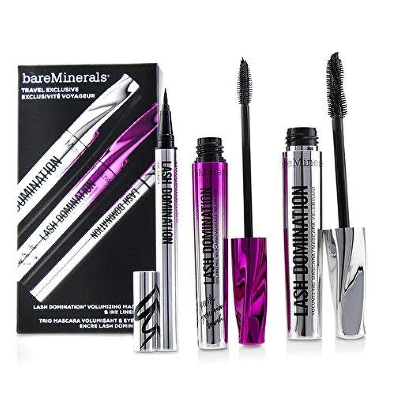 シャンプー組み合わせ観光に行くベアミネラル Lash Domination Volumizing Mascara & Ink Liner Trio (2x Mascara, 1x Eyeliner) 3pcs並行輸入品