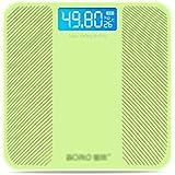 体重計?体脂肪計 電子スケール人間のスケール健康スケール充電式四角いポータブル強化ガラス (Color : Green, Size : 28cm)