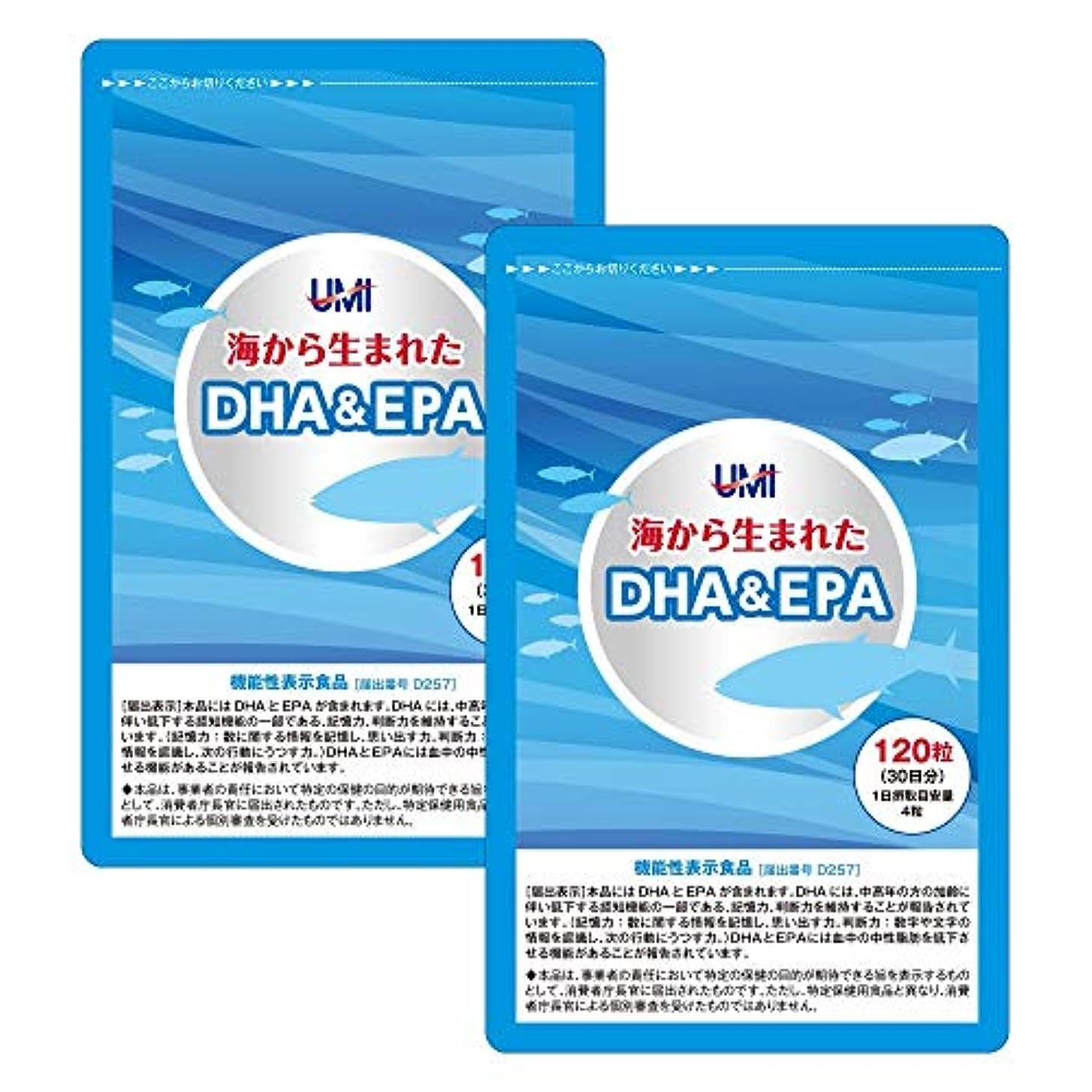 技術的な取る腹部DHA&EPA 2袋セット240粒(1袋120粒入り)