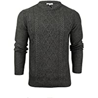 Mens Crew Neck Fishermans Jumper by Xact