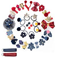 Hair Bows for Toddler Girls and Baby - Alligator Hair Clips for Bows, Toddler Hair Accessories Set Barrettes with Bows for Baby, Great for Newborn, Infant and Kids, with Gift Box (36 pcs)