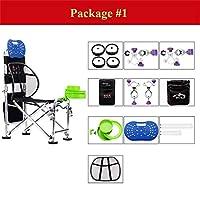 釣り椅子、人間工学に基づいた調整可能な多機能オックスフォード布折りたたみスツール付きバックパックアクセサリー (色 : Package#1)