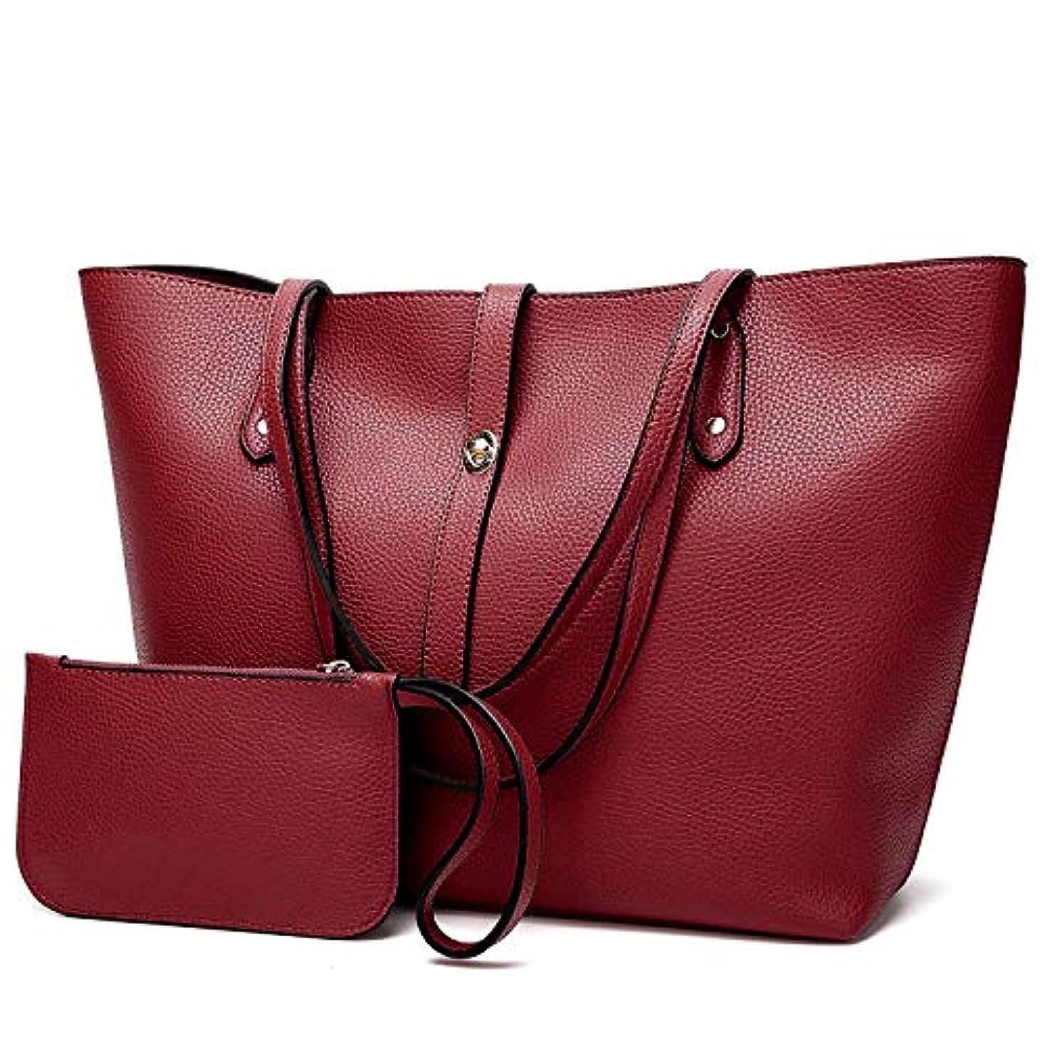 相互運動別に[TcIFE] ハンドバッグ レディース トートバッグ 大容量 無地 ショルダーバッグ 2way 財布とハンドバッグ