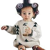 yuzuyu_shop 子供服 男女兼用 男の子 女の子 ニット 三角 トライアングル 冬服 白 黒 (90cm)