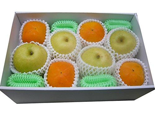 秋の味覚セット(鳥取県産20世紀梨、奈良県産ハウス柿各4個) 東洋フルーツ(有)