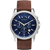 Armani Exchange AX2501 Dark Brown Stainless Steel & Leather Watch