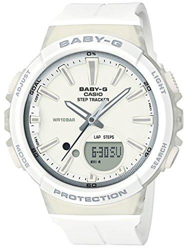[カシオ] 腕時計 ベビージー FOR RUNNING STEP TRACKER BGS-100-7A1JF レディース ホワイト
