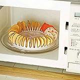 Xiaolanwelc@ Microwave Potato Chip Maker Chips Rack Tray DIY Baking Pan Oven Potato Machine Kitchen Gadget