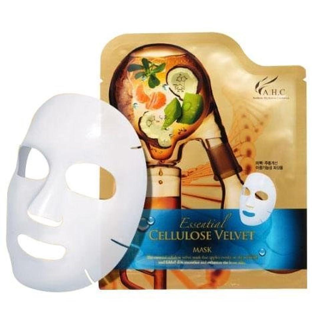 事前に売るエンドテーブルA.H.C Essencial Cellulose Velvet Mask (30g*1EA)/ Made in Korea