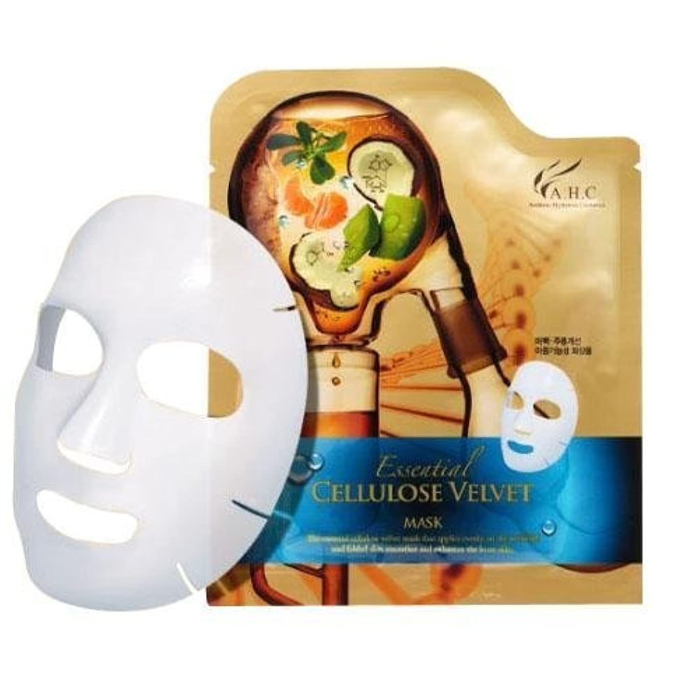 販売計画ステレオタイプ注文A.H.C Essencial Cellulose Velvet Mask (30g*1EA)/ Made in Korea