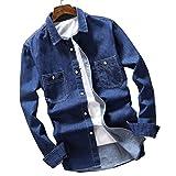 (ワイ-ミー)Y-ME デニムシャツ 薄いセクション 春のシャツ 807-blue 39/L
