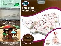 Cybrtrayd Tree Bark Make N ' Moldチョコレート型Chocolatierの25チェロバッグ、25のバンドルシルバーツイスト紐とChocolatierのガイド