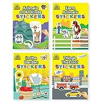 Bundle of 4 Childrens Activity Sticker Books 4 Titles [並行輸入品]