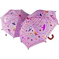 FLOSS&ROCK 子供用傘 バレリーナ バレー 女の子 かわいい カラフル 輸入品 キッズ 傘 雨具