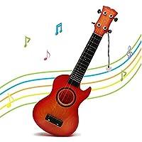 Wishtime 子供 ウクレレ ミニギター 入門 初心者 弦楽器 ミュージカル おもちゃ メロディー リズム 演奏 知育玩具(色指定不可