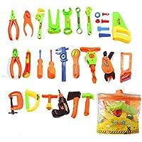 Yiteng ままごとのおもちゃ 修理キット おもちゃ 修理キット 子供教育おもちゃ 工具箱 男の子 知育玩具 34pcs