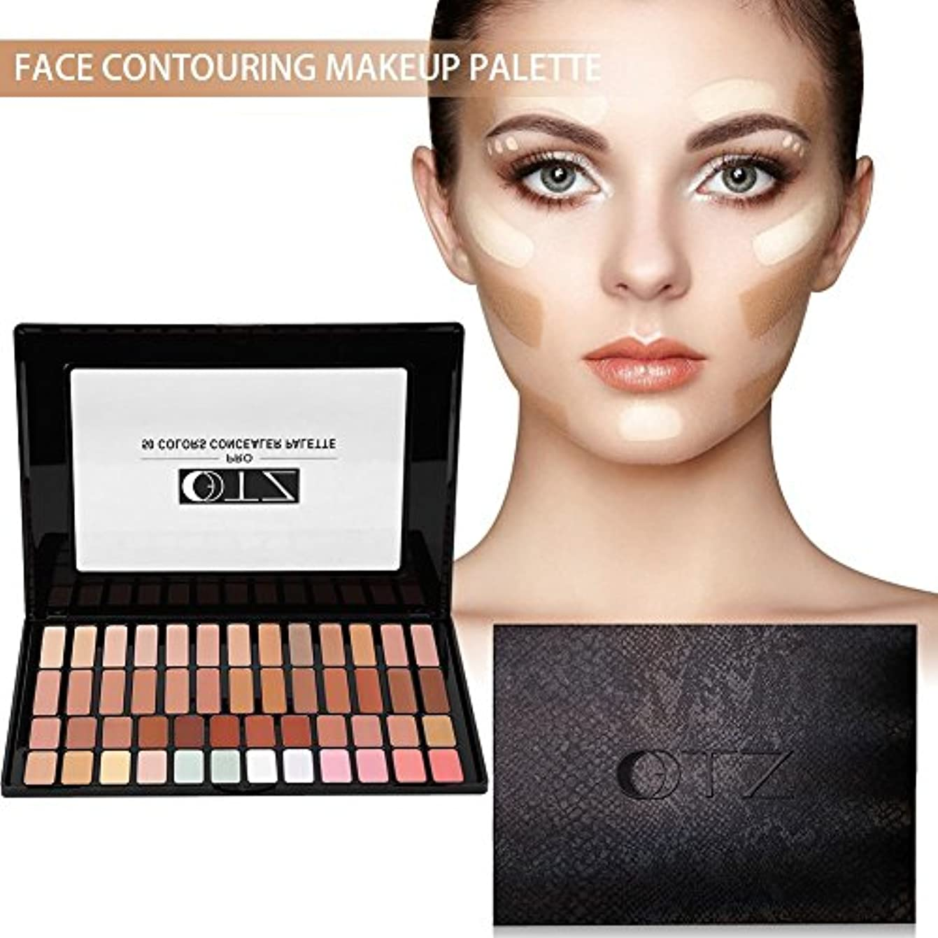 セットする解明抱擁顔の輪郭を作る化粧パレット、50色の肌の明るくなる眉輪郭コンシーラーハイライトパウダーキット