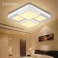 Lights CC リビングルームライト ミニマリストモダン長方形 ノーポラリティ調光Ledシーリングランプマスター寝室ルームランプ、510Mm