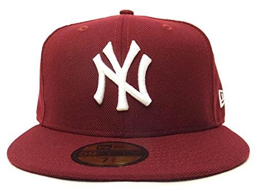 (ニューエラ)New Era ベースボールキャップ BBキャップ NY ニューヨーク・ヤンキース 11308556 カーディナル/ホワイト 7-1/4(57.7cm) 59FIFTY MLB
