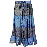 Womens Skirts Belly dance Recycled Vintage Sari Gypsy HippieTiered Long Skirts