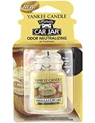Yankee Candle Small Tumbler Candle、バニラカップケーキ Car Jar Ultimate 1220923Z