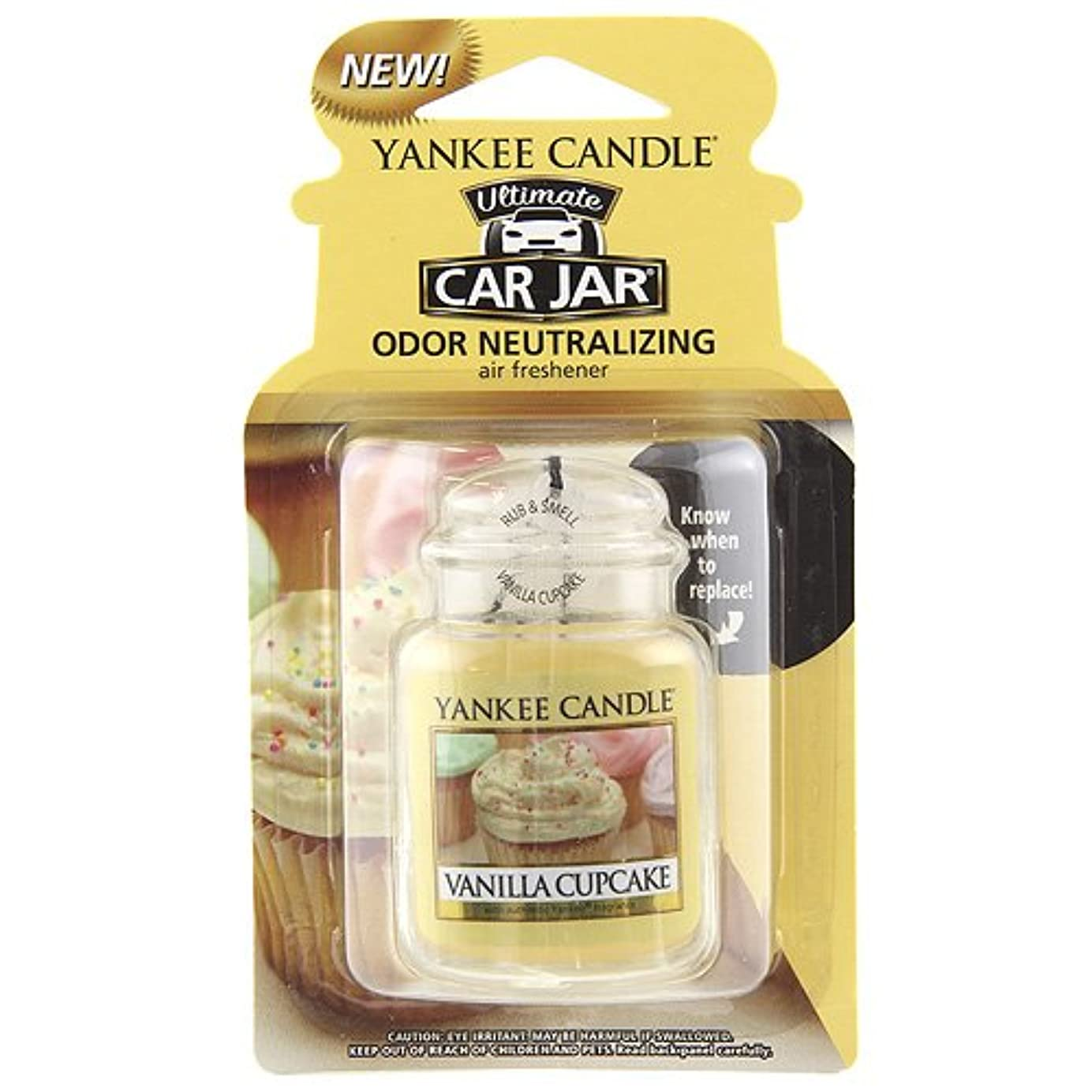 気分が良い雄弁な薄いですYankee Candle Small Tumbler Candle、バニラカップケーキ Car Jar Ultimate 1220923Z