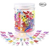 100 Pcs Sewing Clips Multipurpose Sewing Clips Quilting Craft Clips with Box Package Assorted 9 Bright Colors
